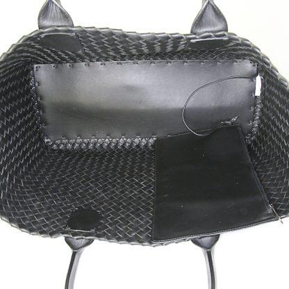 Perfect Bottega Veneta Replica Cabat shopping bag in black intrecciato  leather c4607de3c81e1