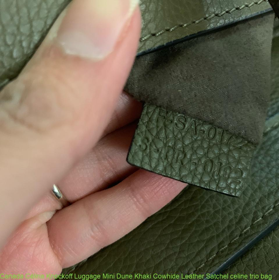 ba0ed1b12ef7 Canada Céline Knockoff Luggage Mini Dune Khaki Cowhide Leather Satchel  celine trio bag