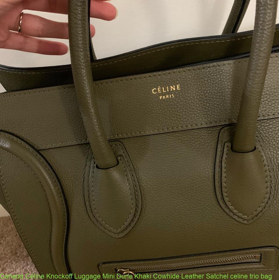 8a13578f3bff Canada Céline Knockoff Luggage Mini Dune Khaki Cowhide Leather Satchel  celine trio bag – Best Buy Copy Replica Designer Handbags From China