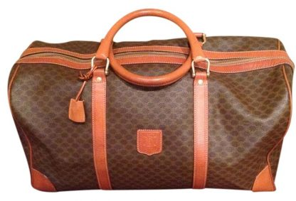 87d367d8d Designer Céline AAA Replica Boston Macadam Duffle Vintage L@@k Brown  Macadam Canvas Leather Weekend/Travel Bag best replica handbags 2018
