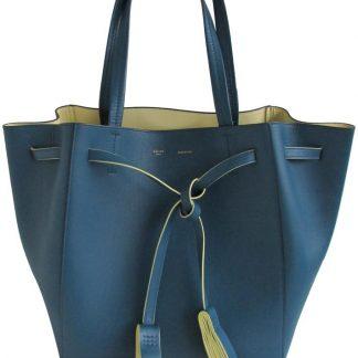 5bd7bf3cc4 You re viewing  Excellent Céline Fake Cabas Phantom Medium Deep Blue Leather  Tote celine replica belt bag