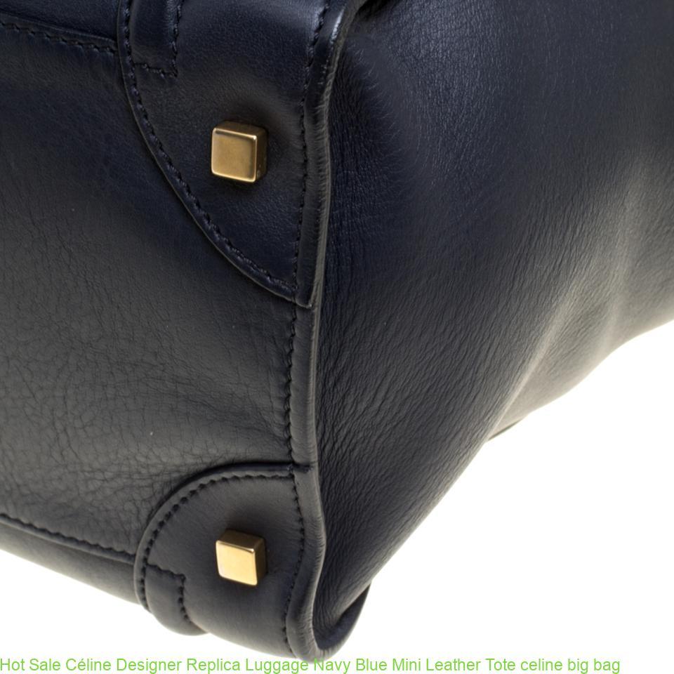 a8e8a6fd6731 Hot Sale Céline Designer Replica Luggage Navy Blue Mini Leather Tote celine  big bag – Best Buy Copy Replica Designer Handbags From China